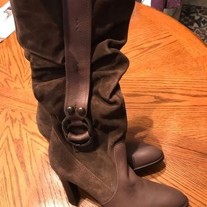 Jessica Simpson - Brown Western Calf Boots